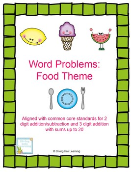 Word Problems With Sums Up To 20: Food Theme