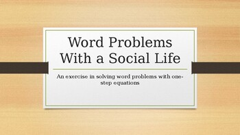 Word Problems With a Social Life