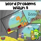 Word Problems Within 5, Set 2, Digital Learning, Boom Cards