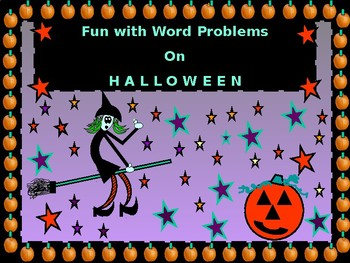 Halloween Story Problems:  Work, Coin,  Mixture, and Distance