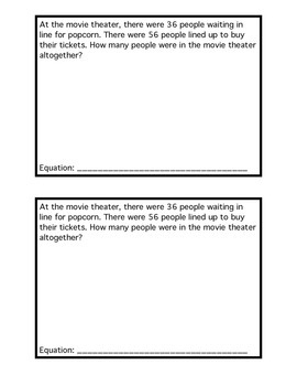 Word Problems (addition and subtraction)