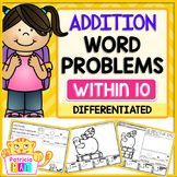 Addition Word Problems for Kindergarten - Back to School