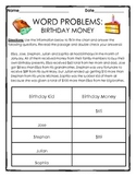 Word Problems and Bar Graphs: Adding and Subtracting Birthday Money