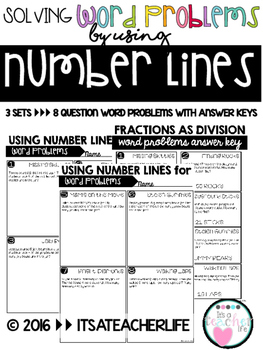 Word Problems and Number Lines