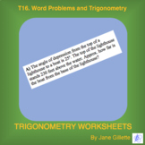 T16. Word Problems and Trigonometry