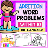 Addition Word Problems for Summer Kindergarten