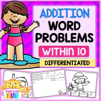 Color by Code Addition Word Problems Kindergarten