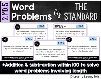 Word Problems by the Standard - 2.MD.5