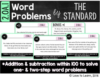 Word Problems by the Standard - 2.OA.1