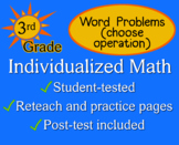 Word Problems, choose operation, 3rd grade - worksheets - Individualized Math