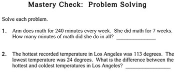 Word Problems, choose operation, 4th grade - Individualized Math - worksheets