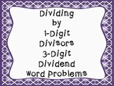 Division Word Problems (division 1-digit divisor 3-digit dividend)