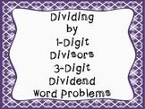 Division Word Problems (division 1-digit divisor 3-digit d