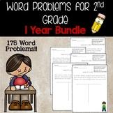 2nd grade Math Word Problems- 1 Year Bundle