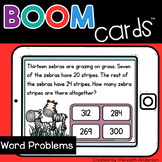 Word Problems for 4th Grade Review Distance Learning Boom Cards