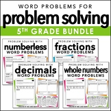Word Problems for 5th Grade Bundle | Distance Learning