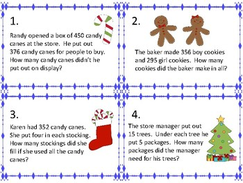 Word Problems for Christmas:  FREEBIE