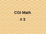 Word Problems for First Grade CGI