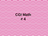 Word Problems for First Grade CGI #4