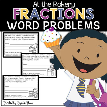 Word Problems for Interactive Notebooks: Fractions