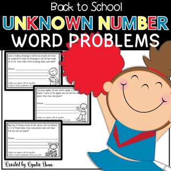 Missing Numbers Word Problems