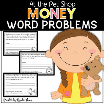 Word Problems for Interactive Notebooks: Money