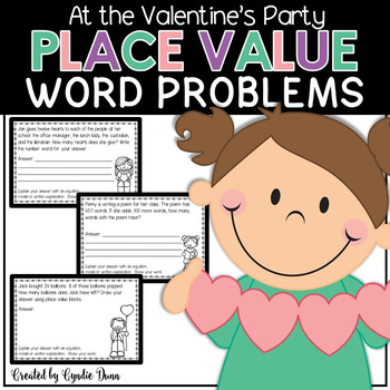 Word Problems for Interactive Notebooks: Place Value
