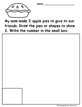 Word Problems for Kindergarten - Back to School