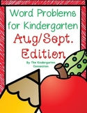 Word Problems for Kindergarten - Back to School