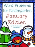 Word Problems for Kindergarten - January Edition