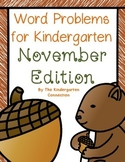 Word Problems for Kindergarten - November Edition