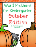 Word Problems for Kindergarten - October Edition
