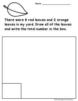 Word Problems for Kindergarten - October Edition