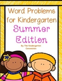Word Problems for Kindergarten - Summer Edition