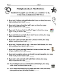 Word Problems for Math Facts