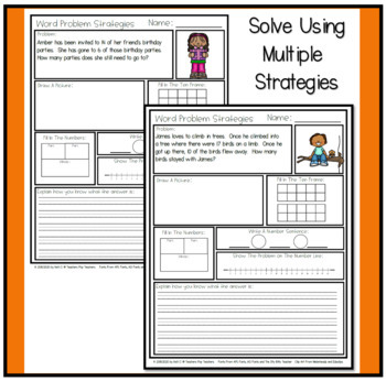 Word Problems for Primary Grades: Subtraction Problems