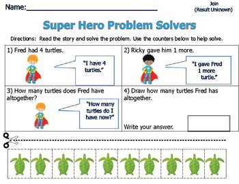 Word Problems for Primary Students - Sum of 5