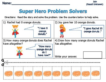 Word Problems for Primary Students - Sum of 10