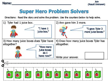 Word Problems for Primary Students - Sum of 4