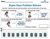 Word Problems for Primary Students - Sum of 8