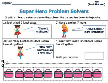 Word Problems for Primary Students - Sum of 9