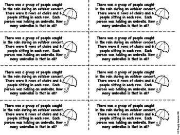 Word Problems for Spring FREEBIE