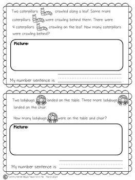 Word Problems for Spring: Kindergarten 0-5