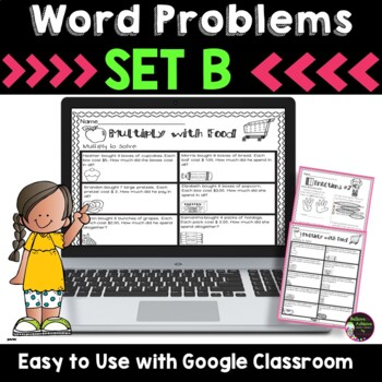 Word Problems for Third Grade-SET B! Over 100 Problems! That's 19 pages!