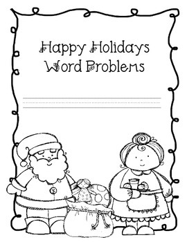 Word Problems for the Common Core Classroom-Winter Bundle