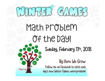 Word Problems for the Winter Games from Feb 11th Results!