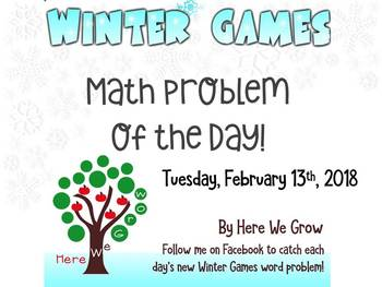 Word Problems for the Winter Games from Feb 13th Results!