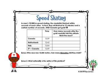 Word Problems for the Winter Games from Feb 14-15th Results!