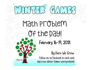 Word Problems for the Winter Games from Feb 16-19th Results!