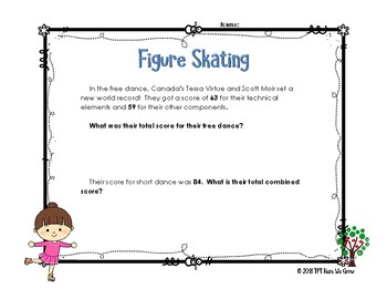 Word Problems for the Winter Games from Feb 20th Results!